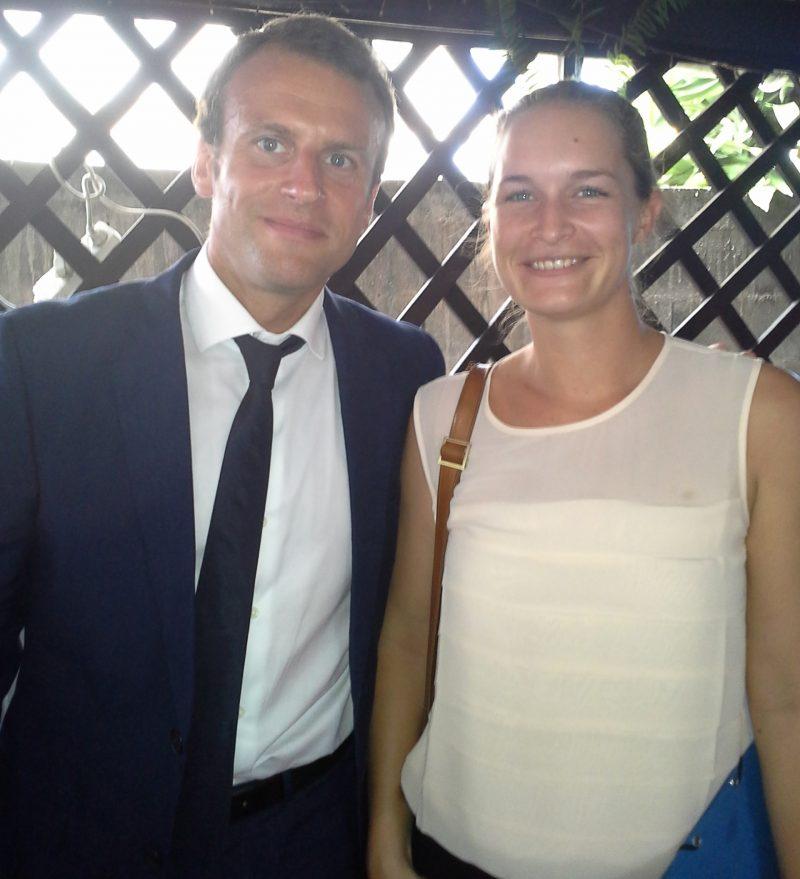 La gérante de Solicaz et le ministre de l'Economie, de l'Industrie et du Numérique